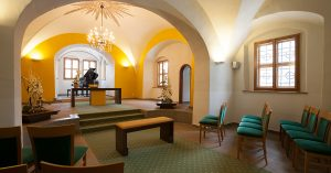 Wasserschloss Klaffenbach Kapelle Ceimzeit