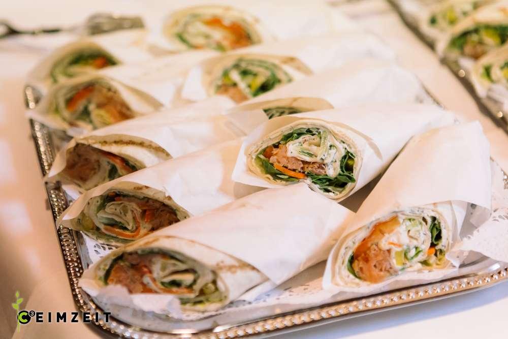 Wraps, gesundes Catering bei Veranstaltungen von Ceimzeit