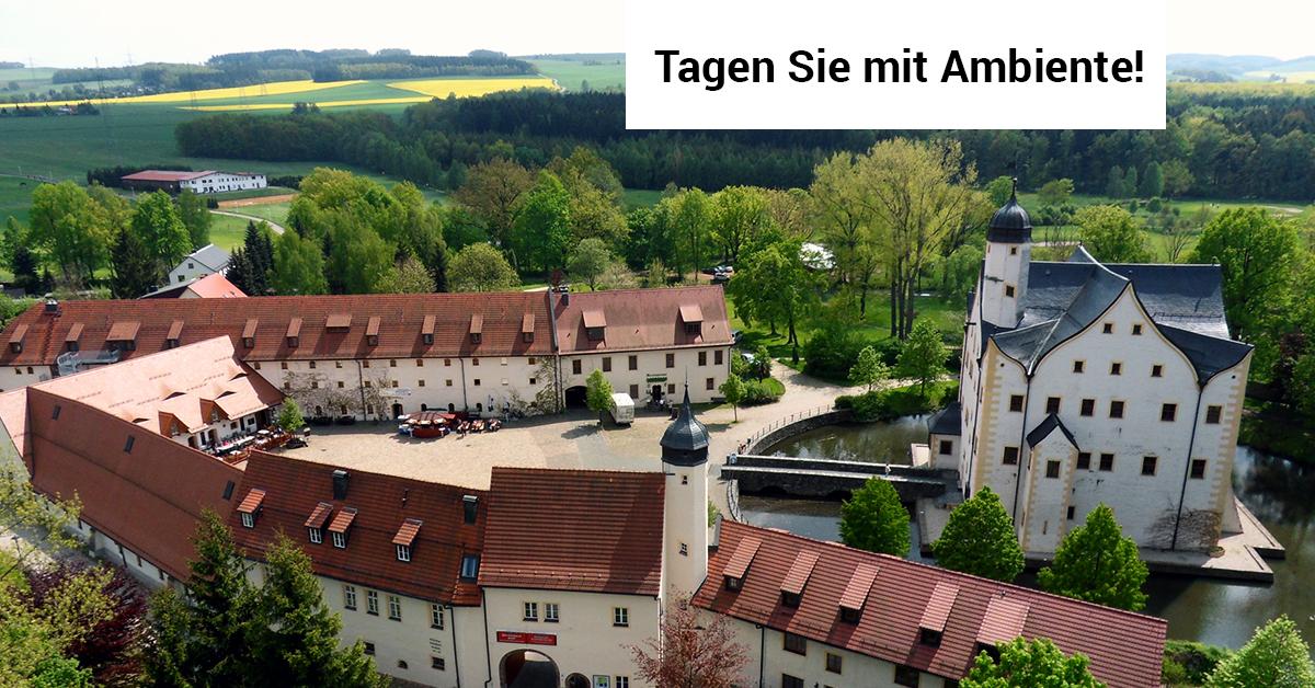 Das Wasserschloss Klaffenbach ist eine Veranstaltungslocation mit besonderem Ambiente von Ceimzeit