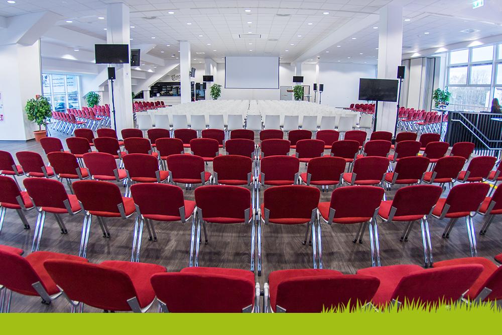 Verschiedene Bestuhlungsvarianten im Stadion - eine Veranstaltungslocation von Ceimzeit